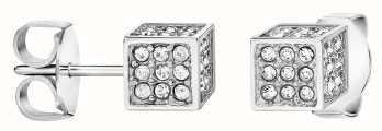 Calvin Klein   Womens Rocking   Silver Earrings   Swarovski Crystal   KJ9CWE040100