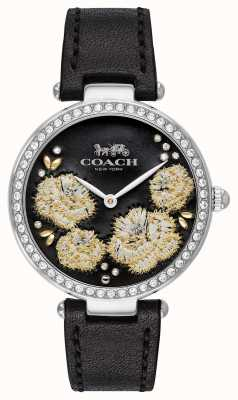 Coach | Womens Park Watch | Black Leather Strap Black Dial 14503283
