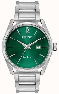 Citizen Men's Eco-Drive Metal Bracelet Green Dial BM7410-51X