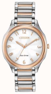 Citizen Women's Eco-Drive Two Tone Metal Bracelet EM0756-53A