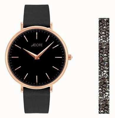 Adore By Swarovski Adore Holiday Signature Black Watch Gift Set 5459990