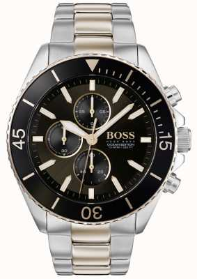 BOSS | Mens Ocean Edition | Two Tone Stainless Steel | Black Dial 1513705