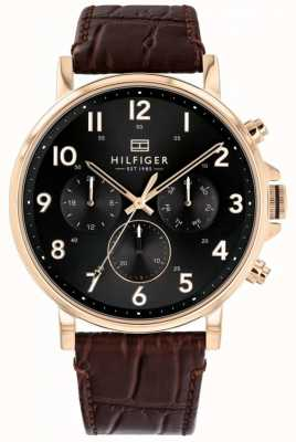 Tommy Hilfiger | Men's Brown Leather Daniel Watch | 1710379