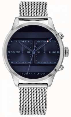 Tommy Hilfiger | Men's Stainless Steel Mesh Watch | Blue Dial | 1791596