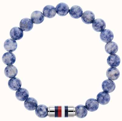 Tommy Hilfiger | Mens Sodalite Blue Beaded Bracelet | 2790069