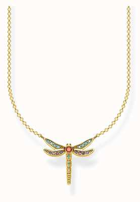 Thomas Sabo   Sterling Silver Gold Plated Dragonfly Necklace   KE1837-974-7-L45V