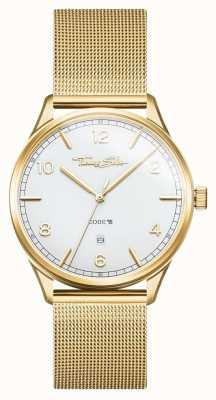 Thomas Sabo | Stainless Steel Gold Mesh Bracelet | White Dial | WA0340-264-202-40