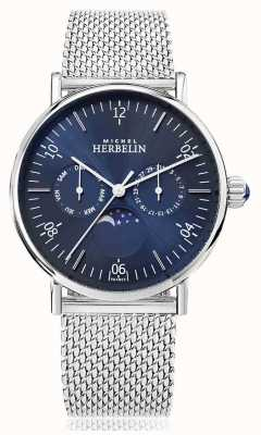 Michel Herbelin Montre Inspiration Moonphase Stainless Mesh Strap Blue Dial 12747/AP15B