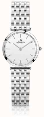 Michel Herbelin Womens Epsilon Stainless Steel Bracelet White Dial 17116/B11