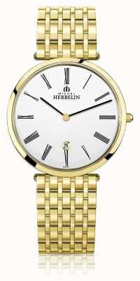 Michel Herbelin | Mens | Epsilon | Extra Flat Gold PVD Bracelet | 19416/BP01N