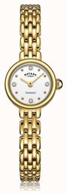 Rotary   Ladies Gold Plated Bracelet   LB05153/02/D