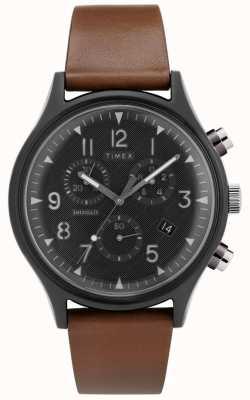 Timex   MK1 Steel Supernova Chrono   Leather Watch   TW2T29600D7PF