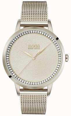 Boss | Ladies Pale Rose Gold Mesh Bracelet | 1502464
