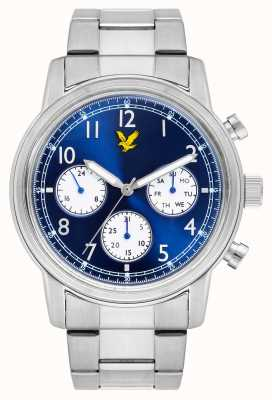 Lyle & Scott Mens Command Stainless Steel Bracelet Blue Dial LS-6005-22