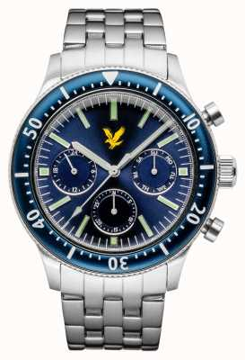 Lyle & Scott Mens Jacklin Stainless Steel Bracelet Blue Dial LS-6009-22