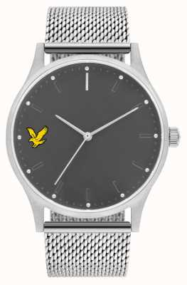 Lyle & Scott Mens Hope SE Stainless Steel Mesh Bracelet Grey Dial LS-6013-11