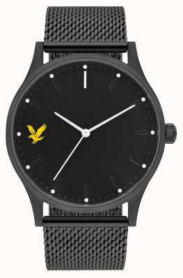 Lyle & Scott Mens Hope SE Black PVD Steel Mesh Bracelet Black Dial LS-6013-22