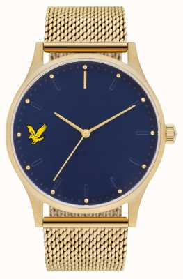 Lyle & Scott Mens Hope SE Gold PVD Plated Steel Mesh Bracelet Blue Dial LS-6013-44