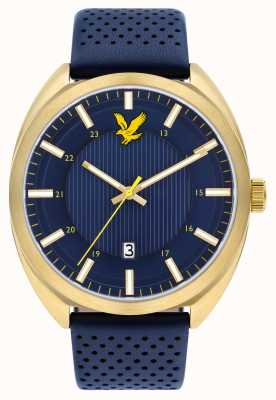 Lyle & Scott Mens Tevio Blue Leather Strap Blue Dial LS-6015-04