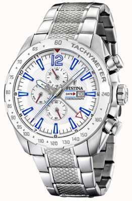Festina | Mens Chronograph & Dual Time | Silver Dial| Steel Bracelet F20439/1
