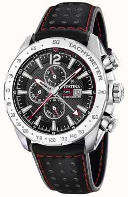 Festina | Mens Chronograph & Dual Time | Black Dial | Leather Strap F20440/4