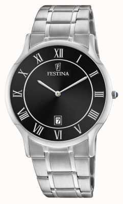 Festina | Mens Stainless Steel | Black Dial | Steel Bracelet | F6867/3