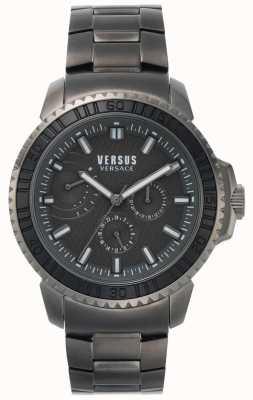 Versus Versace | Mens Aberdeen | Black Dial | Grey Stainless Steel Bracelet VSPLO0819