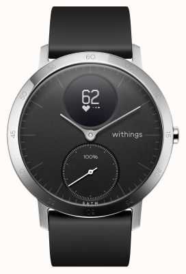 Withings Steel HR 40mm Black Silicone Strap HWA03B-40BLACK-ALL-INTER