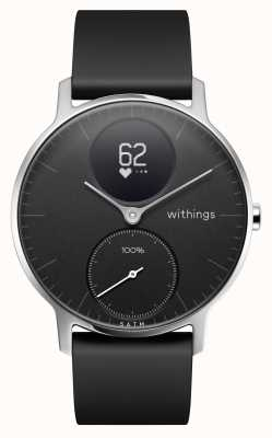 Withings Steel HR 36mm Black Silicone Strap EX-DISPLAY HWA03-36BLACK-ALL-INTEREX-DISPLAY