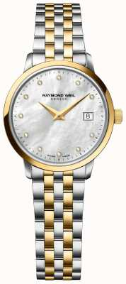 Raymond Weil | Womens Toccata Diamond | Two Tone Stainless Steel Bracelet 5985-STP-97081