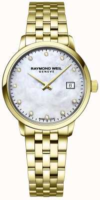 Raymond Weil | Womens Toccata Diamond | Gold Stainless Steel Bracelet | 5985-P-97081