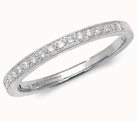 Treasure House 9k White Gold Diamond Eternity Grain Set Ring RD388W/N