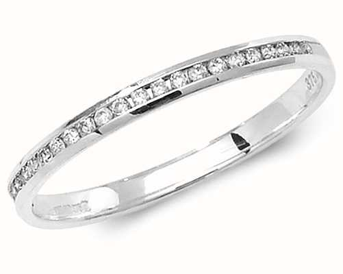 Treasure House 9k White Gold Diamond Half Eternity Ring RD583W/N