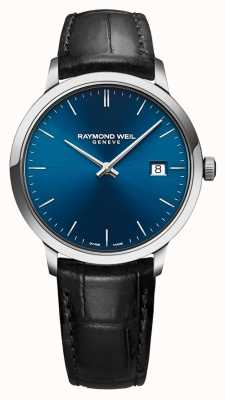 Raymond Weil Mens Toccata Blue Dial Black Leather Strap 5485-STC-50001