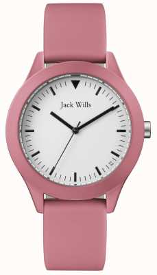 Jack Wills | Gents Pink Rubber Strap | White Dial | JW009JWPK