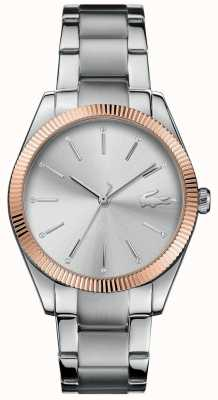 Lacoste Womens Parisienne Stainless Steel Bracelet Silver Dial 2001082
