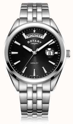 Rotary   Mens Henley   Black Dial   Stainless Steel Bracelet   GB05290/04