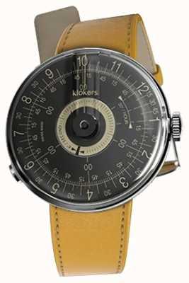 Klokers KLOK 08 Black Dial  Newport Yellow Single Strap KLOK-08-D3+KLINK-01-MC7.1