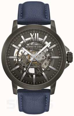 Kenneth Cole | Mens Automatic | Blue Leather | Gun Metal Dial | KC50779002