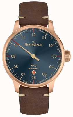 MeisterSinger Bronze Line No 03 Dark Brown Calfskin AM917BR