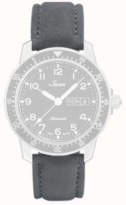 Sinn Alcantara Gray, Seam Grey Leather Strap 123.4