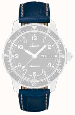 Sinn Blue Alligator-print Leather Strap 1234.5
