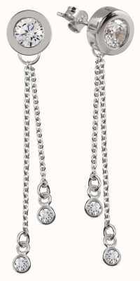 Radley Jewellery Silver Stud Long Multi Drop Earrings RYJ1059