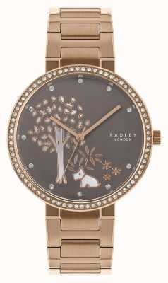 Radley | Womens Rose Gold Steel Bracelet | White/Grey Tree Dial | RY4386