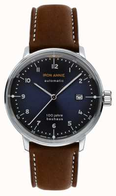 Junkers Iron Annie | Bauhaus | Brown Leather Strap | Blue Dial 5056-3