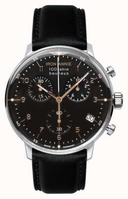 Iron Annie Bauhaus   Chrono   Black Dial   Black Leather 5096-2