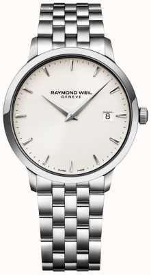 Raymond Weil Mens Toccata Watch Cream Dial Stainless Steel Bracelet 5488-ST-40001