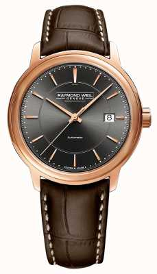 Raymond Weil | Mens Maestro | Brown Leather Strap | Grey Dial | 2237-PC5-60011