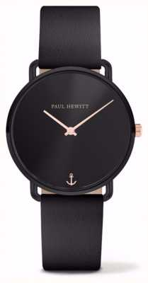Paul Hewitt | Ladies Miss Ocean | Black Leather Strap | PH-M-B-BS-32S
