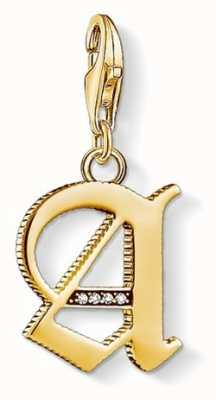 Thomas Sabo Pendant 'Letter A' 18k YellowGold Plated 925 Sterling Silver 1607-414-39